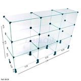 Balcão Em Vidro Modulado Para Loja - 1,50 X 1,00 X 0,30