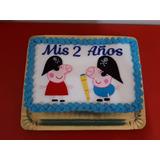 Torta Cumpleaños Peppa Pig Y Hermano Piratas Oferta Envios