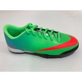 Tenis Fútbol Niño Nike Mercurial Vortex Turf Verde 573875380