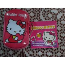 Bolsita Monedero Metalica D Hello Kitty 100% Original Nva