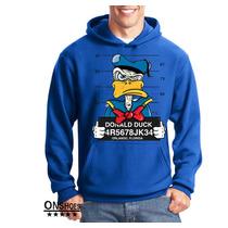 Blusa Moletom Casaco Donald Duck Thug Life Dtg Pronta Entreg