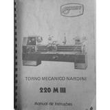 Manual De Instrução Do Torno Mecanico Nardini 220 M I I I