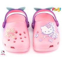 Babuche Sandália Infantil Menina Plugt Hello Kitty Original