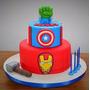 Tortas Decoradas Infantiles Vengadores Superheroes Varones