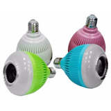 Bombillo Parlante Bluetooth Control Remoto Luces Colores Mp3