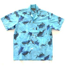 Camisa Hawaiana Tropical Hombre Tiburón Talle Xl