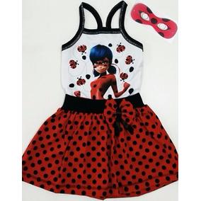 Vestido Infantil Miraculous Ladybug Roupa/fantasia (+brinde)