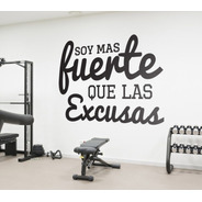 Vinilos Decorativo  Gym  Frases Fuerza  Clases Relax 60cm