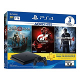 Ps4 Slim 500gb +3 Juegos Gow4,gt6,uncharted 4,playsound