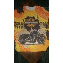 Playera Tacto Algodon Harley Davidson Caballer