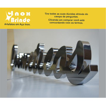 Letras E Números Em Aço Inox Espelhado Ou Escovado - 30 Cm