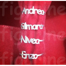 Anel Com Nome Personalizado Em Prata 925 ! (até 10 Letras)