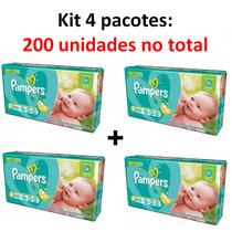 Kit Fralda Pampers Total Confort P C/ 200 Tiras