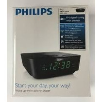 Radio Relogio Fm E Despertador Digital Philips Aj3116m