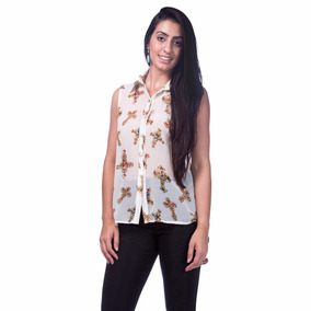 Blusas Femininas Camisa Chiffon Verão 2017 Seda Importada