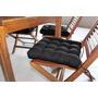 Jogo Acento P/cadeira 40cm X 40cm (kit C/ 6 Peças ) Preto
