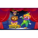Painel De Festa Circo Palhaço Colorido-180x120cm