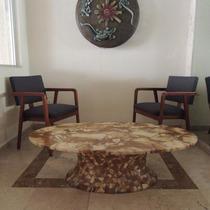 Mesa De Centro Mid Century Modern Marmol Vintage Años 70s