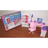 Mueble Para Casa De Muñeca Barbie Escritorio Oficina