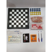 Jogo Dama, Bingo, Domino, Cartas E Livro Para Pintura