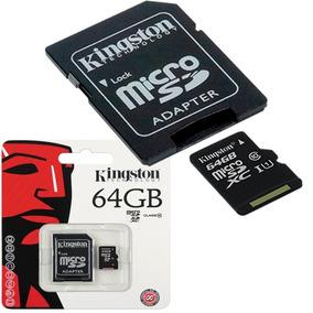 Memoria 64gb Kingston Micro Sd Con Adaptador Solo Al Mayor
