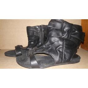 Zapatillas Zapatos Botitas Cuero Botisandalias 35 22 Cm