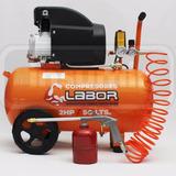 Compresor Aire Labor By Dogo 50 Litros 2hp Soplete Manguera