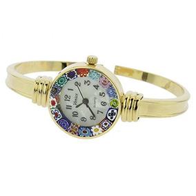 Reloj Glassefvenice Murano Glass Millefiori Bangle - Oro