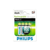 Pilas Recargables Aaa Philips Pack X 4 Rendimiento Real Loi