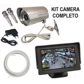 Kit Completo Câmera Vigilância Monitor Cabo Fácil Instalar