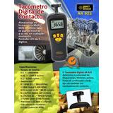 Tacómetro Digital Láser De Contacto Mide Velocidad Rpm