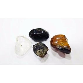 Coleção Proteção Total/kit 4 Pedras/cristal/ônix/turmalina