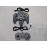 Manete Joystick Gamepad Controle Super Nintendo 64 Pc Usb