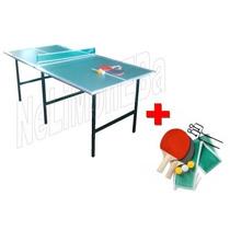 Mesa Ping Pong Familiar Patas Plegables + Set P R O M O -25%