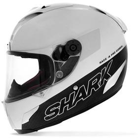 Capacete Shark Fechado Race-r Pro Carbon Blank Whu Branco