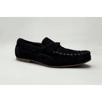 Zapatos Mocasines De Cuero Gamuza Marca Altoretti Ash37