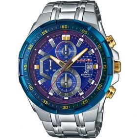 3da5195f013 Relogio Casio Edifice 539 Prata F. Azul Redbull Caixa Manual