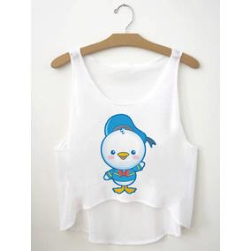Regatinha Cropped Blusas Femininas Pato Donald