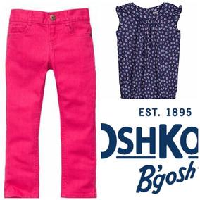 Conjunto Pantalón Skinny Rosa Pañalero Oshkosh Carters Bebé