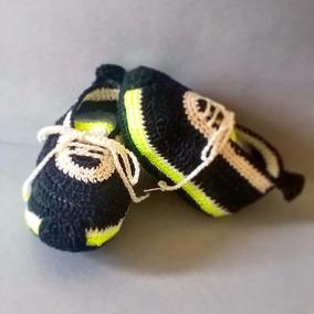 Escarpines Tejidos, Zapatos Para Bebe De 0-3 Meses