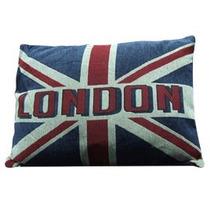 Cojín Diseño Bandera Británica London De 45x60cm