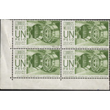 0964 Seguro Postal 11° E # Control Block 4 1p Mint N H 1975