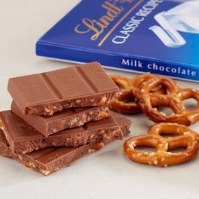 10 Barras De Chocolate Suizo Lindt Lindor Precio Especial