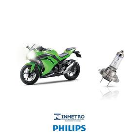 Lâmpada Farol Moto Kawasaki Ninja 300 Philips H7 100%+luz