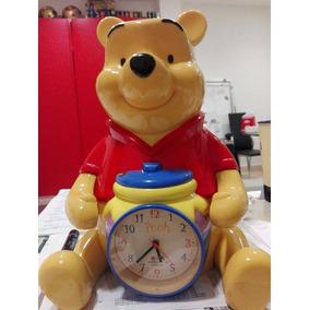 Winnie The Pooh Reloj Alarma Y Alcancia Vintage