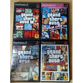 Coleção C/ 4 Jogos Gta 3 Originais P/ Playstation 2 Ntsc