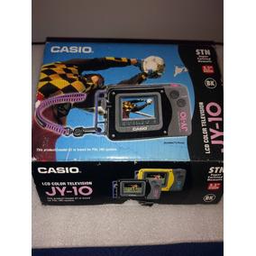 Tv Portátil Casio Lcd Color Jy-10 - Colecionador