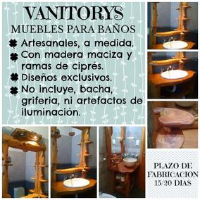 Vanitory Madera Cipres, Artesanal, Rustico, A Medida