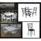 Cadeiras E Mesas De Ferro Para Lanchonete,buffet,locação