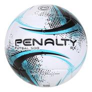 Bola De Futsal Penalty Rx 500 Xxi - Branco E Azul